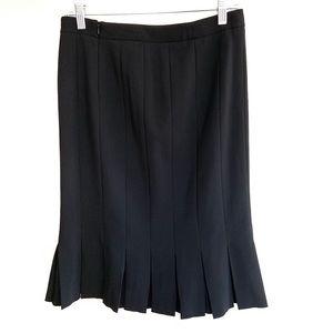 GIORGIO ARMANI Vintage Pleated Wool Skirt